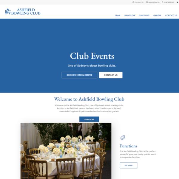 Ashfield Bowling Club Website