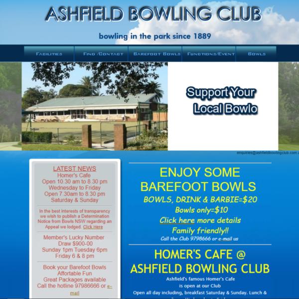 Ashfiled Bowling Club Old Website